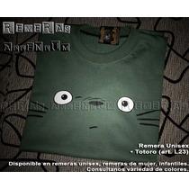 Remeras Unisex Totoro Anime Comics 100% Algodón Promo !!
