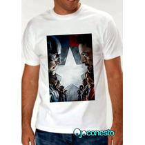 Remeras Capitán América Civil War, Batman, Marvel Y Dc