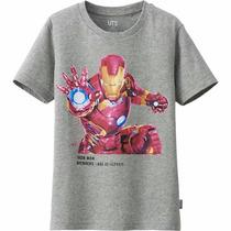 Remera De Iron Man, Avenger, Marca Uniqlo. 9 Y 10 Años