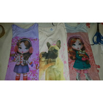 Remera Manga Larga Nenas. Pack X 6