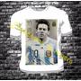 Remera Futbol Lionel Messi Estampa Hoja A3!!!