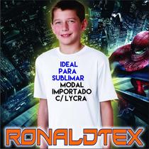 Remeras Lisas De Niños Modal Con Lycra Ideal Para Sublimar!!