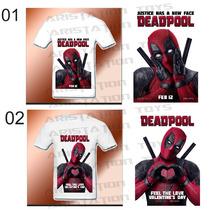 Remera Deadpool Para Adulto Estampada Diseño Película Marvel