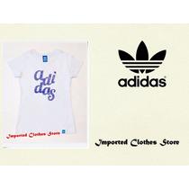 Remeras Adidas Mujer Algodón 100% Excelente Calidad!!