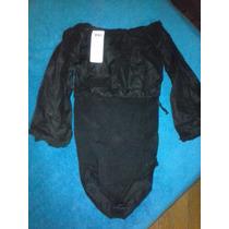 Body Negro Talle Mfx De Lycra. Importado De Colombia