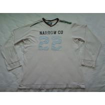 Remera Narrow Talle L Mangas Largas Escote En V