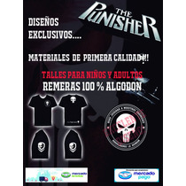 Remera The Punisher! Excelente Calidad! Talles Adultos!