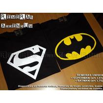 Remeras Unisex Comics Adulto Batman Joker Superman