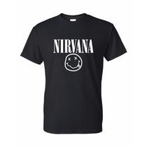 Nirvana Remera Estampada Con Vinilo
