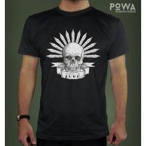 Remera Hombre Estampada 100% Algodón Calavera- Powa