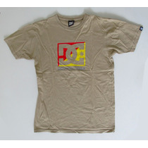 Remera Dc Talle L Ocre 100% Algodón. Impecable