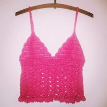 Tejidos Artesanales A Crochet: Crop Top De Verano!!