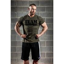 Remera Militar Para Gym Fisicoculturistas Team Ironworks
