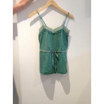 Musculosa Abercrombie - Encaje, Verde-celeste - Mujer