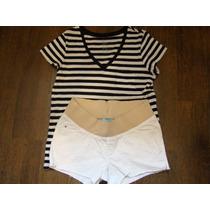 Remera Gap Y Short Old Navy Para Embarazada Talle M