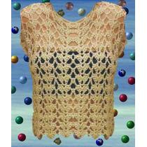 Musculosa Color Natural Tejida A Crochet Talle 1~2~3~4