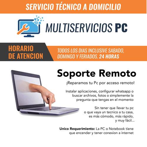 Reparacion De Pc, Notebook, Servidores, Redes. A Domicilio.