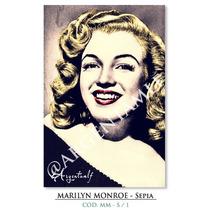 Láminas De Marilyn Monroe - Sepia (9 X 13 Cm.)