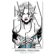 Láminas De Madonna - Typography - Triple Linea (9 X 13 Cm.)
