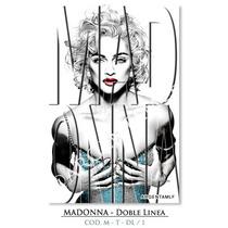 Láminas De Madonna - Typography - Doble Linea (9 X 13 Cm.)