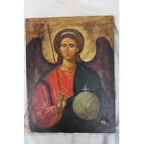 Arte Religioso,arcangel San Miguel Firmado Aldao De Hunicken