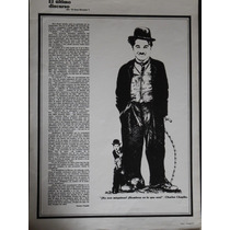 Lamina Charles Chaplin El Ultimo Discurso 60x44 Cm.