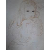 Lamina Dibujo De Niña 48x43 Cm.