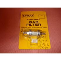 Filtro Nafta Universal - Emgo Usa - Desarmable 1/4 Vidrio
