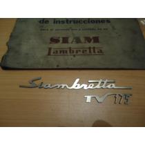 Insignais Delantera De Siambretta Tv 175
