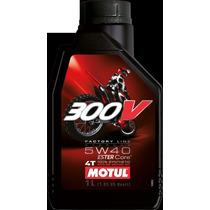 Aceite 100% Sintetico Motul 300v 5w40!competicion!fas Motos
