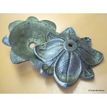Repuesto Araña Antigua De Bronce Plato Floron Grifa Adorno