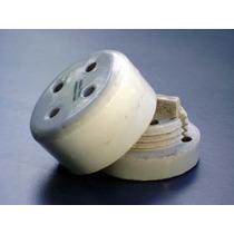 Aislador Antiguo Porcelana Esmaltada No. 6, 2 Piezas A Rosca