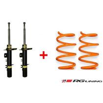 Amortiguador Vástago Corto + Espiral Ag Xtreme Fiat Uno Fire