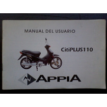 Appia Citiplus 110 Manual De Usuario Original