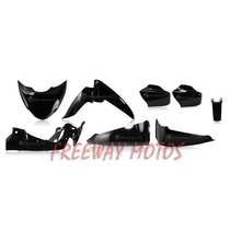 Kit Plasticos Negro Gilera Futura 8 Piezas En Freeway Motos!