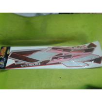 Kit Calcos Honda Cg Today 92 Bordo Y Plateado