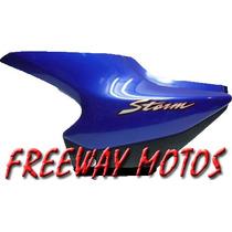 Cacha Lateral Izq Honda Storm Azul Original Freeway Motos
