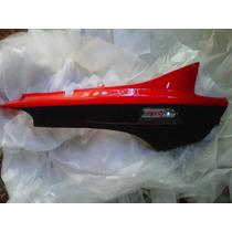 Cacha Lateral Zanella Zb110 G4 Rojo Con Negro Mate Derecho