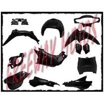 Kit Plasticos Gilera Smash 110 Negro 15 Piezas Freeway Motos
