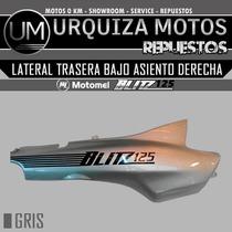 Cacha Lateral Trasera Bajo Asiento Blitz 125 Original Der Gr
