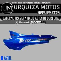 Cacha Lateral Trasera Bajo Asiento Blitz 125 Original Der Az