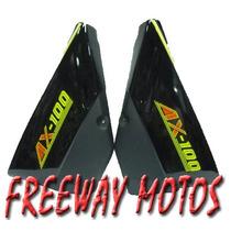 Juego Cachas Suzuki Ax 100 Color Negro En Freeway Motos !