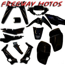 Kit De Plasticos Honda Wave M/ Nuevo Negro En Freeway Motos!