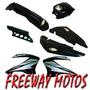 Kit Plasticos Honda Bross 125 Skua Comp C/faro Freeway Motos
