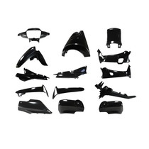Kit Plasticos Carenado Honda Wave 14pcs Negro
