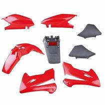 Kit De Plasticos Honda Xr 250 Tornado 8 Piezas Color Rojo