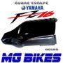 Cubre Escape Negro Yamaha Fz 16 Unicamente En Mg Bikes