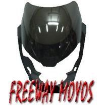 Mascara Bajaj Rouser 200 Negro Carenado En Freeway Motos!!