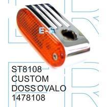 Faro Giro Bullet Chopper Metal Cromado Tuning Custom Bobber