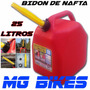 Bidon De Nafta Combustible 25 Litros Con Pico Moto Mg Bikes
